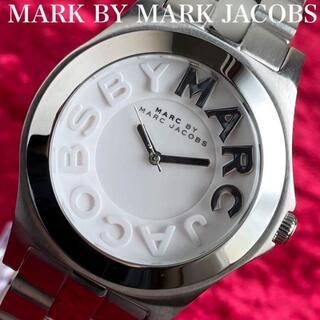 【注目度抜群!マークジェイコブス】丸形シルバー新品未使用ユニセックス腕時計/箱付