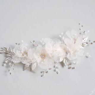 【大幅値下げ】Sweet Ribbonブライダルヘッドドレス シルバー