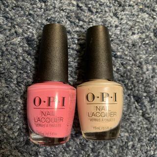 オーピーアイ(OPI)のo•p•i 美品試し塗りのみ 二つセット(マニキュア)