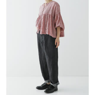 nest Robe - リネンデニム5ポケットパンツ ブラック サイズ1
