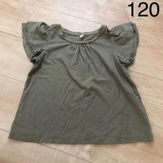 UNIQLO - 【120cm】ユニクロ Tシャツ トップス カーキ