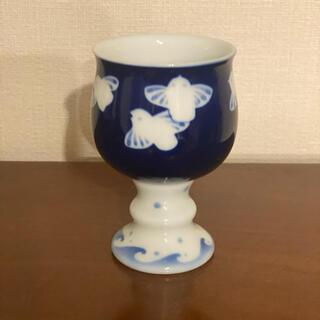 有田焼 深川製磁 ふくら雀 花形ワインカップ