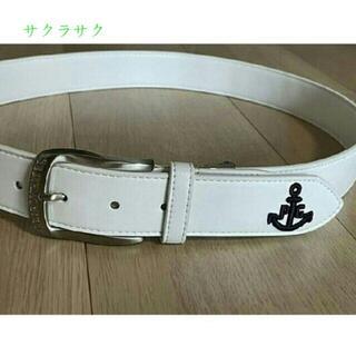 パーリーゲイツ(PEARLY GATES)のパーリーゲイツ 立体型 ロゴ 刺しゅう アンカーデザインベルトg(ベルト)