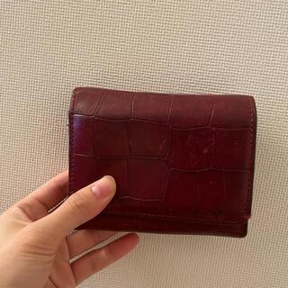 サザビー(SAZABY)のSAZABY 赤革財布(財布)