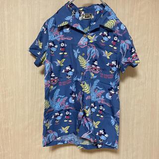 ディズニー(Disney)のアウトバーン ディズニー アロハシャツ M 開襟 ミッキー ミニー(シャツ/ブラウス(半袖/袖なし))