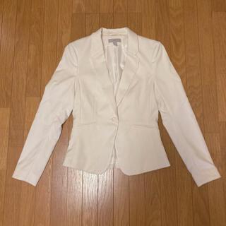 エイチアンドエム(H&M)のテーラードジャケット H&M レディース ジャケット オフホワイト 34(テーラードジャケット)