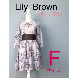 Lily Brown - Lily Brown (リリーブラウン) 花柄レース ワンピース