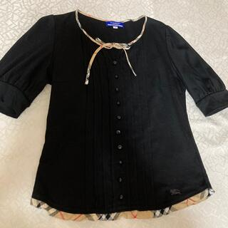 BURBERRY BLUE LABEL - バーバリーブルーレーベル カットソー 半袖Tシャツ リボン付き ノバチェック