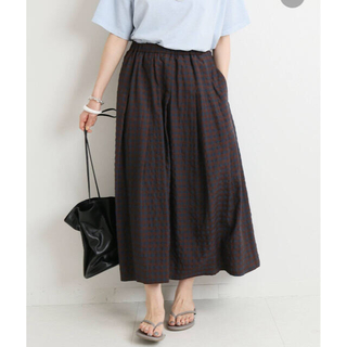 IENA - 【IENA】ギンガムギャザースカート 美品