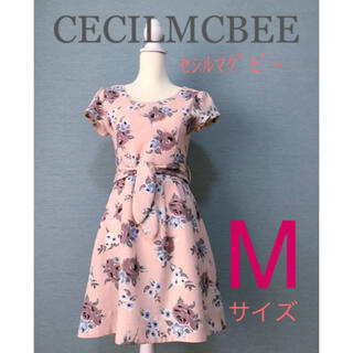 CECIL McBEE - CECILMCBEE(セシルマグビー)花柄 ワンピース ピンク