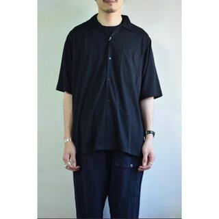 COMOLI - comoli ウール天竺 オープンカラー 半袖シャツ NAVY 3
