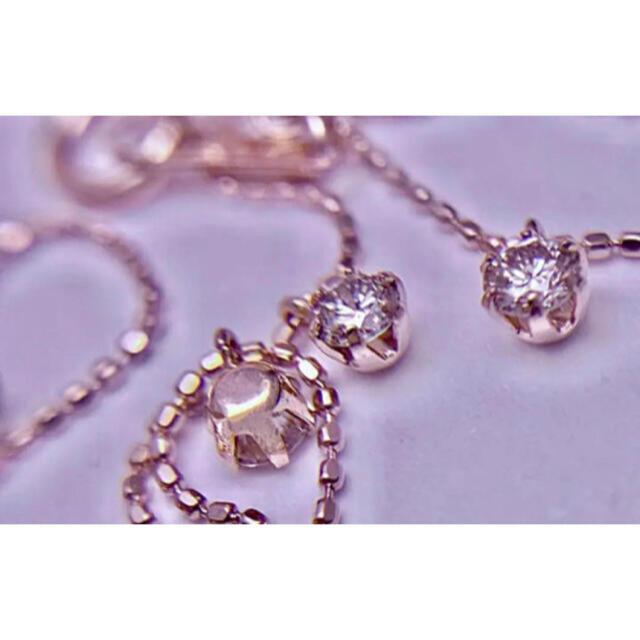 キラキラ✨素敵なダイヤモンドステーションネックレス レディースのアクセサリー(ネックレス)の商品写真