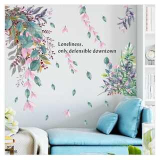 ウォールステッカー ウォールシール  壁シール 壁紙 北欧 お花 葉 D52