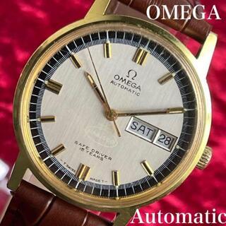 オメガ(OMEGA)の【非売品!金色に輝くオメガ】OMEGA丸型ゴールド自動巻きメンズ腕時計/稼働品(腕時計(アナログ))