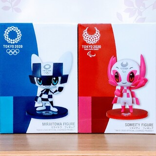 SEGA - 東京2020オリパラマスコット ミライトワ ソメイティ フィギュア 全2種セット