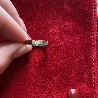 カルティエ(Cartier)のC ドゥ カルティエ ウェディング リング  1Pダイヤ WG(リング(指輪))