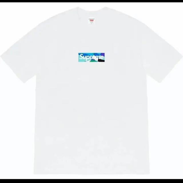 Supreme(シュプリーム)のSupreme Emilio Pucci Box Logo Tee Blue メンズのトップス(Tシャツ/カットソー(半袖/袖なし))の商品写真