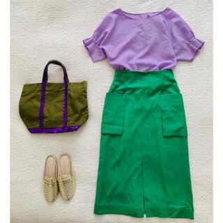 BEAUTY&YOUTH UNITED ARROWS - ユナイテッドアローズ♡キレイ色 センタースリットスカート美品