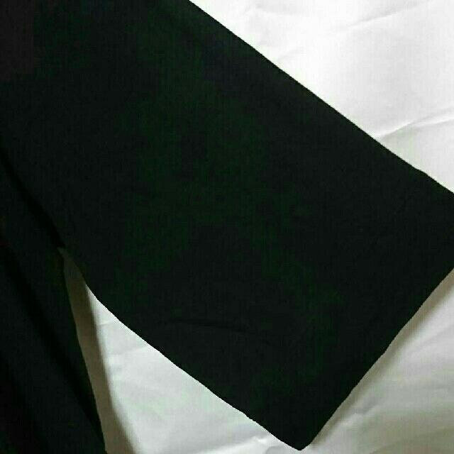 UNIQLO(ユニクロ)の美品 UNIQLO 羽織り カットソー ガウン 黒 ロング メンズのトップス(Tシャツ/カットソー(七分/長袖))の商品写真