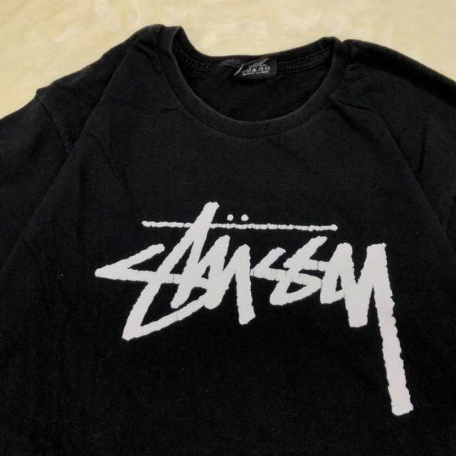 STUSSY(ステューシー)のM様専用 ステューシー STUSSY 黒  M Tシャツ 古着 ビッグロゴ メンズのトップス(Tシャツ/カットソー(半袖/袖なし))の商品写真
