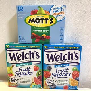 Welch's ウェルチ Mott's フルーツ グミ 3箱セット
