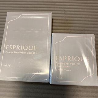 ESPRIQUE - エスプリーク ファンデーション オークル410 ケース set