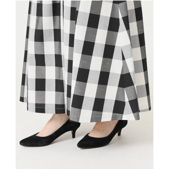 IENA SLOBE(イエナスローブ)のスローブイエナ【完売】ギンガムチェックタフタスカート レディースのスカート(ロングスカート)の商品写真
