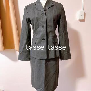 スーツカンパニー(THE SUIT COMPANY)のスカートスーツ M グレイ スカートスーツ 縦ライン セレモニースーツ (スーツ)