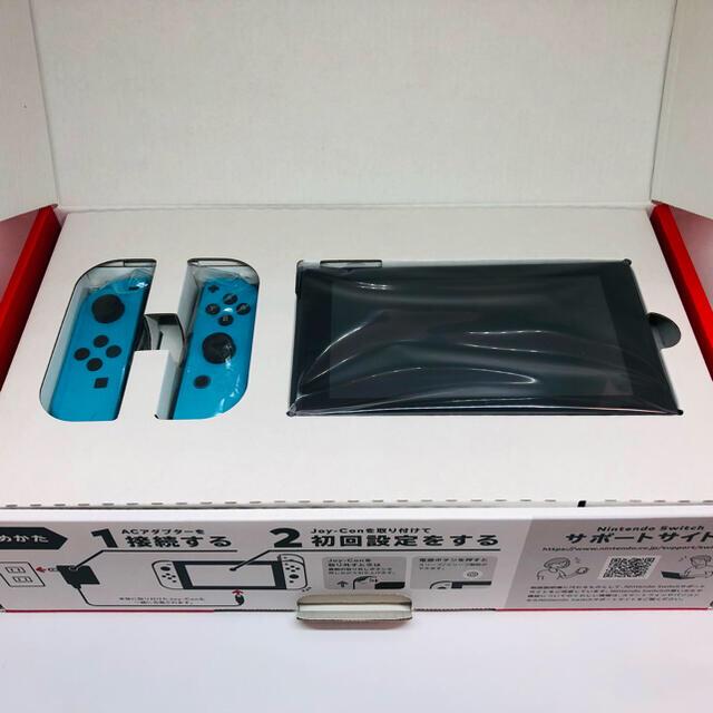 Nintendo Switch(ニンテンドースイッチ)の【あみ様専用】【新品】Switch本体(ネオンブルー)ソフトセット【2/2】 エンタメ/ホビーのゲームソフト/ゲーム機本体(家庭用ゲーム機本体)の商品写真