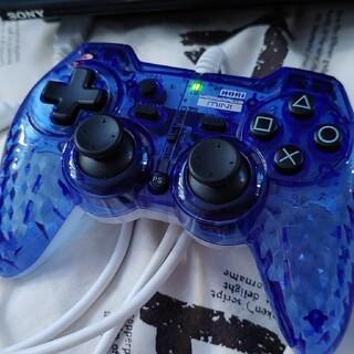 PlayStation3 - 【PS3対応】USB連射コントローラー ホリパッド3 ミニ クリアブルー SON