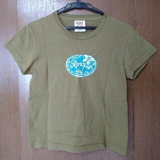 ロキシー(Roxy)のロキシー ROXY 半袖Tシャツ カーキ Sサイズ(Tシャツ(半袖/袖なし))