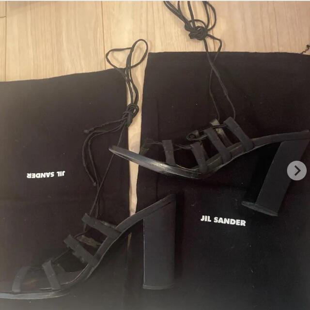 Jil Sander(ジルサンダー)のJL SANDER編み上げサンダル 破格!早い者勝ち レディースの靴/シューズ(サンダル)の商品写真