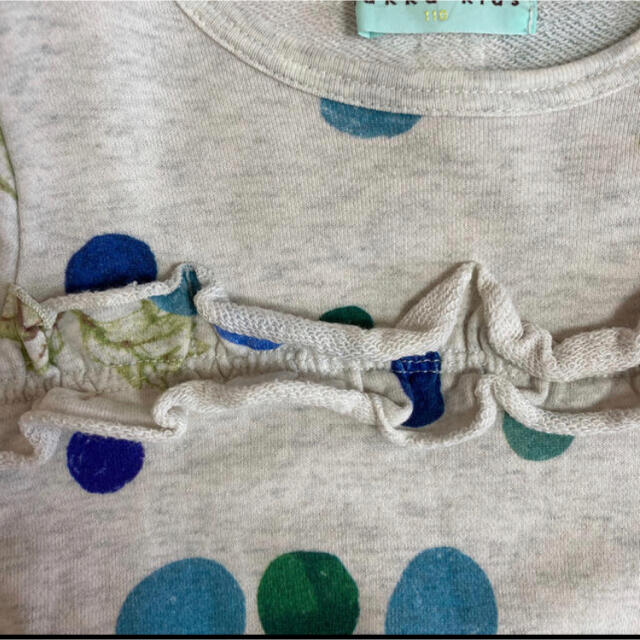 hakka kids(ハッカキッズ)のハッカキッズ 110 ドットグレーププリントコクーンチュニック キッズ/ベビー/マタニティのキッズ服女の子用(90cm~)(Tシャツ/カットソー)の商品写真