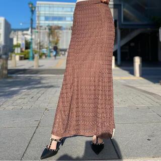 リゼクシー(RESEXXY)の新作 オープンワークマーメイドスカート(ロングスカート)