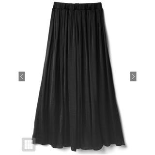 グレイル(GRL)の黒 フレアスカート ロングスカート(ロングスカート)