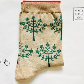 ミナペルホネン(mina perhonen)のミナペルホネン  ソックス リンゴ(ソックス)