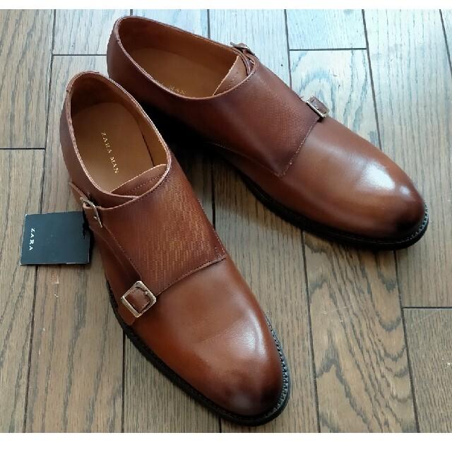 ZARA(ザラ)のZARA 牛革シューズ 新品 41(26cm) メンズの靴/シューズ(ドレス/ビジネス)の商品写真