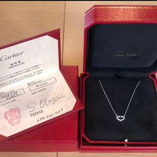 カルティエ(Cartier)のカルティエ Cハート ネックレス 美品(ネックレス)