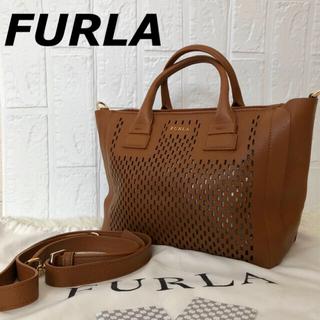 Furla - 【極美品】フルラ FURLA パンチング 保存袋 2way ブラウン 保証書