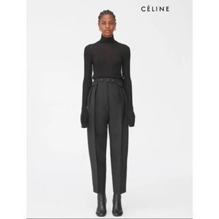 celine - CELINE セリーヌ タック パンツ フィービー 黒 ブラック