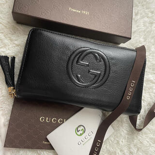 Gucci - 【限定価格】155 GUCCI グッチ  ラウンドファスナー  長財布 SOHO