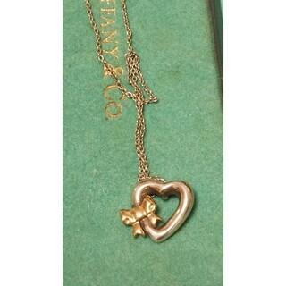 Tiffany & Co. - ティファニーハートにリボンのネックレス