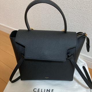 celine - CELINE セリーヌ ベルトバッグ マイクロ ブラック