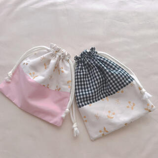 さくらんぼのミニ巾着 (外出用品)