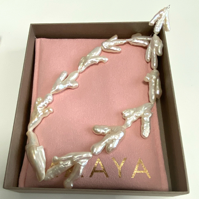 MAAYAパール 新作完売 ESTELLA ネックレス 未使用新品 レディースのアクセサリー(ネックレス)の商品写真