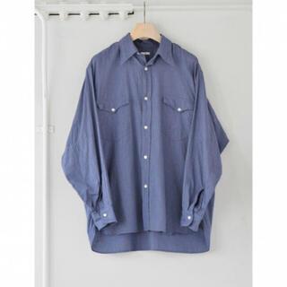 COMOLI - COMOLI 21AW ヨリ杢ワークシャツ サイズ2 ブルー 新品未使用