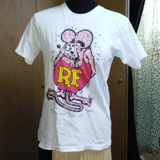 キャラクターTシャツレディースL白(Tシャツ(半袖/袖なし))