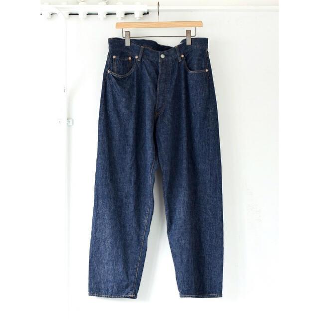 COMOLI(コモリ)のCOMOLI 21AW デニム5Pパンツ ネイビー サイズ2 新品未使用 メンズのパンツ(デニム/ジーンズ)の商品写真