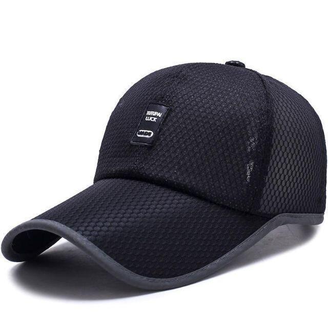 メッシュキャップ 帽子 黒野球帽 運動帽メンズ帽子新品キャップ メンズの帽子(キャップ)の商品写真