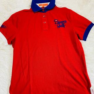 BEAMS - ポロシャツ Mサイズ BEAMS GOLF 襟ビックロゴ ビームスゴルフ 半袖